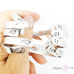 wholesale- Small Order- The Original Hand Stamped Cuff Bracelet