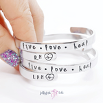The Original Hand Stamped Aluminum Cuff Bracelet