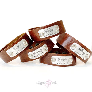Leather Scripture Cuff