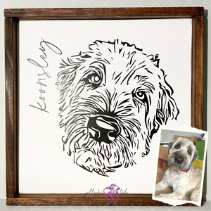 Custom Painted Pet Portrait- Medium