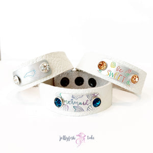 Create Your Own Stamped Leather Cuff Bracelet