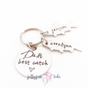 Father's Day Keychain | Personalized Fish