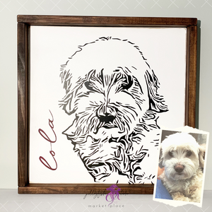 Custom Painted Pet Portrait