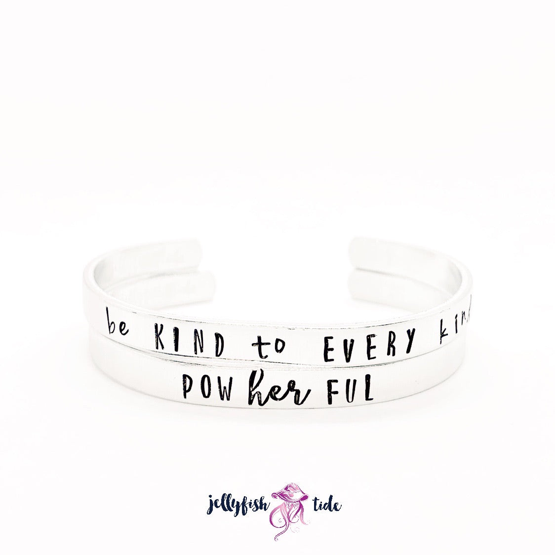 Design Your Own Hand Stamped Aluminum Cuff Bracelet