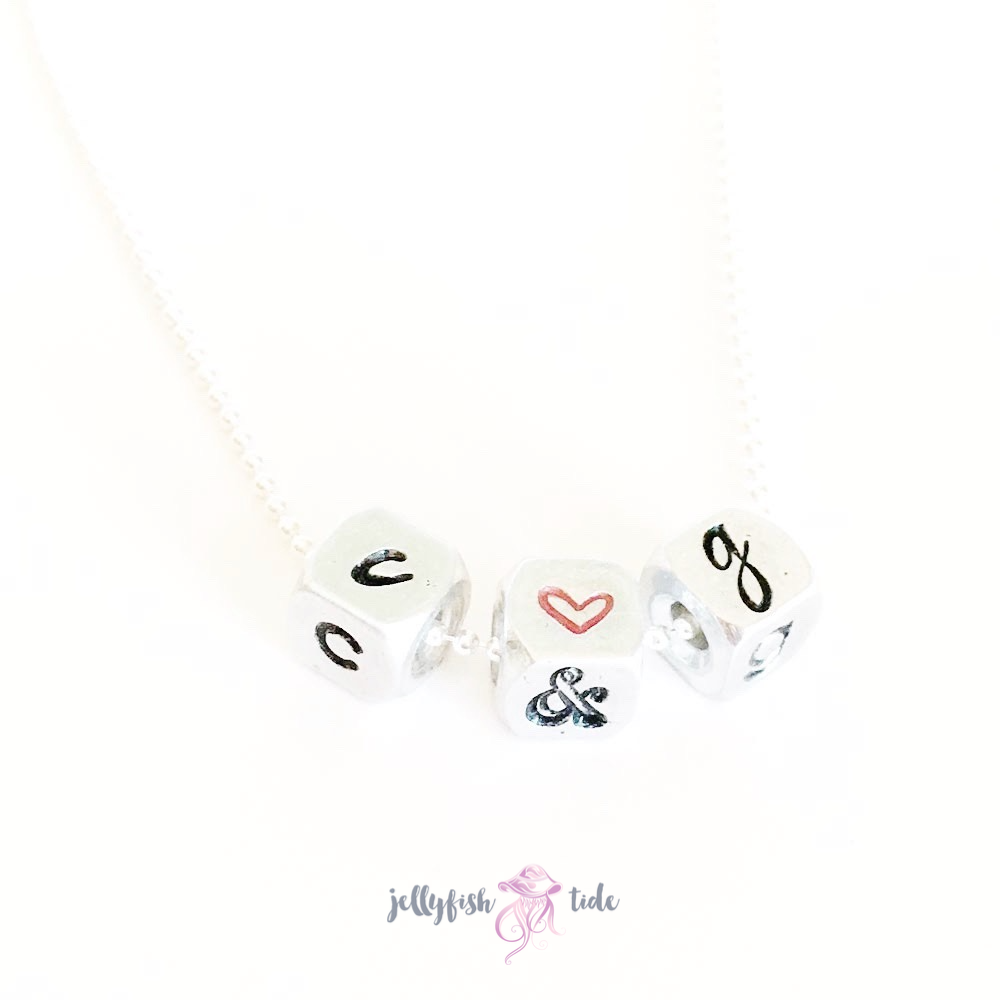 Mini Blocks Monogram Necklace