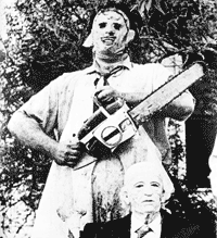 LEATHERFACE AND GRAMPS - Backpatch