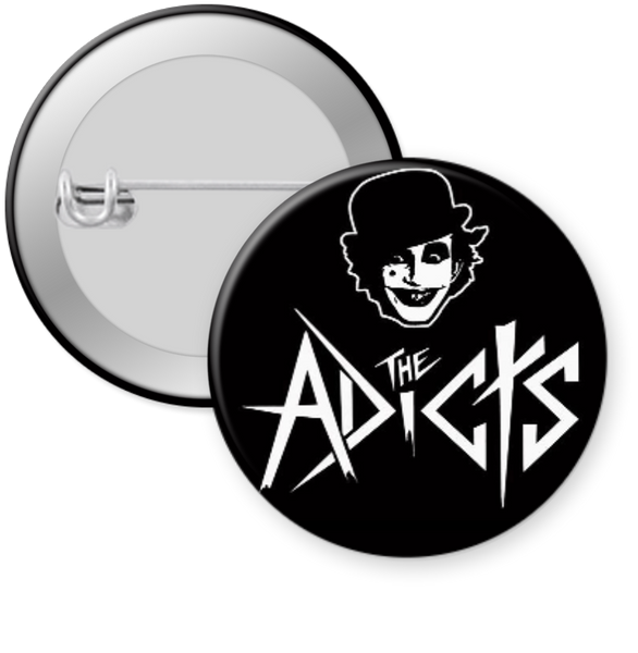 THE ADICTS-LOGO Button 1.25""