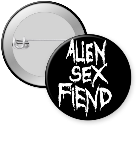 ALIEN SEX FIEND - LOGO Button 1.25""