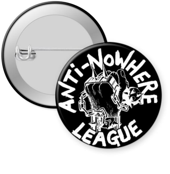 ANTI NOWHWERE LEAGUE - LOGO Button 1.25""