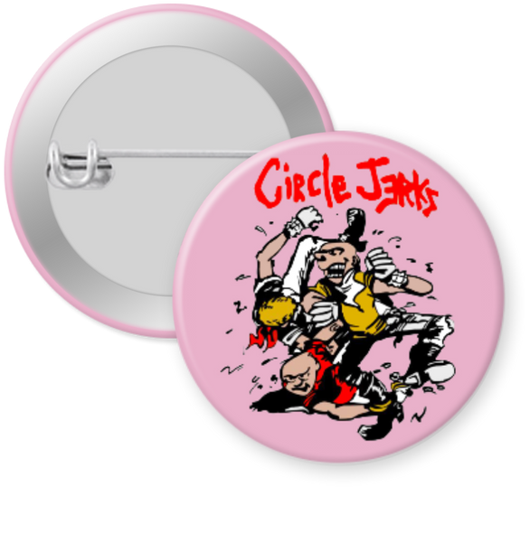 CIRCLE JERKS -PINK Button 1.25""