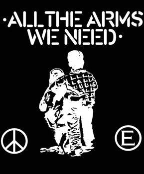 FLUX OF PINK INDIANS #1 - ALL THE ARMS WE NEED SMALL PATCH