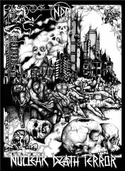 NUCLEAR DEATH TERROR #1 - LP cover backpatch