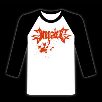 IMPALED #4 - Most Hated black and white baseball shirt