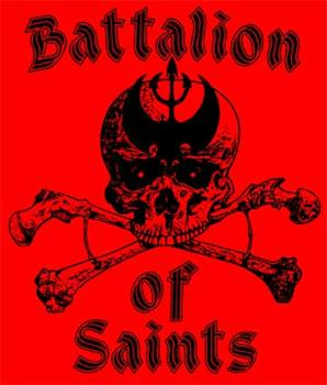 BATTALION OF SAINTS - #6 Red Skull And Crossbones backpatch