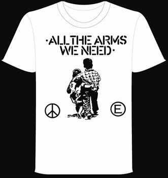 FLUX OF PINK INDIANS #1- White All The Arms We Need T shirt