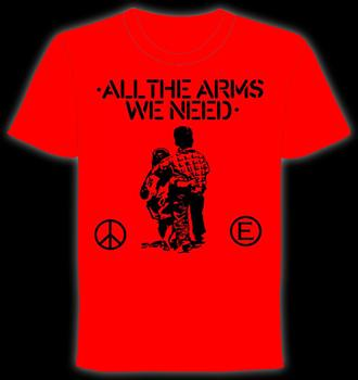 FLUX OF PINK INDIANS #1- Red All The Arms We Need T shirt