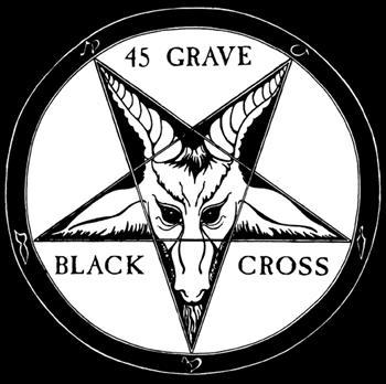 45 GRAVE - Black Cross SMALL PATCH