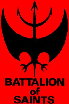 BATTALION OF SAINTS #3 LOGO red small patch