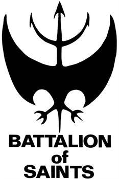 BATTALION OF SAINTS #3 LOGO WHITE SMALL PATCH