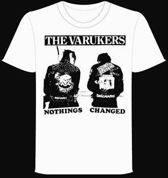 VARUKERS #6 - White Nothings Changed T shirt