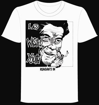 WASTED YOUTH #1 - White Reagans In T shirt