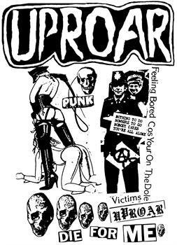 UPROAR #1 - Collage backpatch
