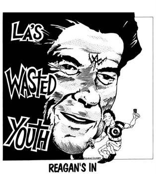 WASTED YOUTH #1 - White Reagans In backpatch
