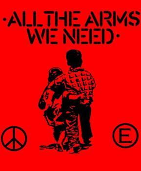 FLUX OF PINK INDIANS #1 - Red All The Arms We Need backpatch