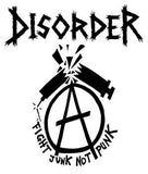 DISORDER #3 - Fight Junk Not Punk backpatch