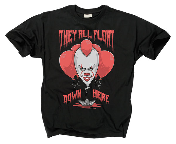 IT - IT They All Float Down Here T Shirt