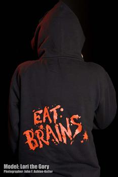 EAT BRAINS - zipper hoodie