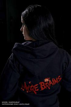 MORE BRAINS - zipper hoodie