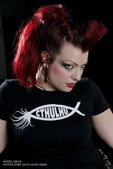 CTHULHU FISH - girl fitted shirt