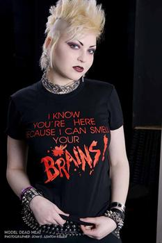 SMELL BRAINS - girl fitted shirt