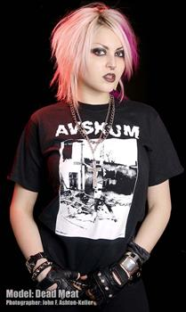 AVSKUM #1 - Crucified By The System T shirt