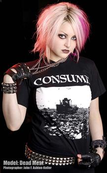 CONSUME #1 - Rubbish Heaps Turns To Mountains T shirt