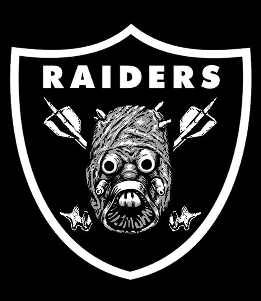 RAIDERS - TUSKEN RAIDERS MASHUP girl fitted shirt