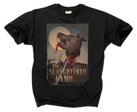 AN AMERICAN WEREWOLF IN LONDON - The Slaughtered Lamb Logo T Shirt