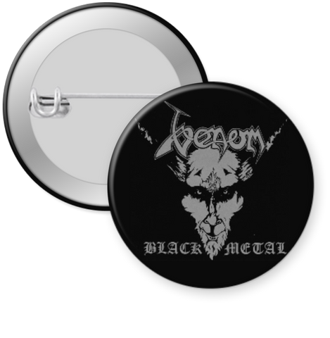 VENOM-BLACK METAL Button 1.25""