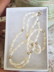 14 Kt Gold Freshwater Pearl Necklace