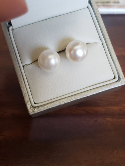 14 Kt Gold XXL Pearl Earrings