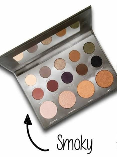 Pink Up Smoky- Eye Shadow and Highlighter Palette