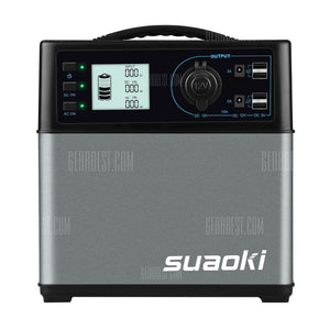 Suaoki 400wh Solar Portable Power Supply EU- GRAY EU PLUG