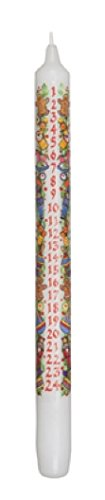 Biedermann & Sons 12 Count Christmas Advent Taper Candles, 12""
