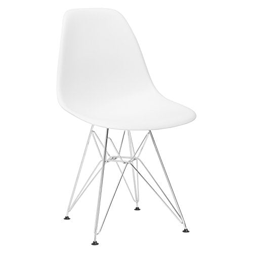 Poly and Bark Padget Side Chair in White img 1