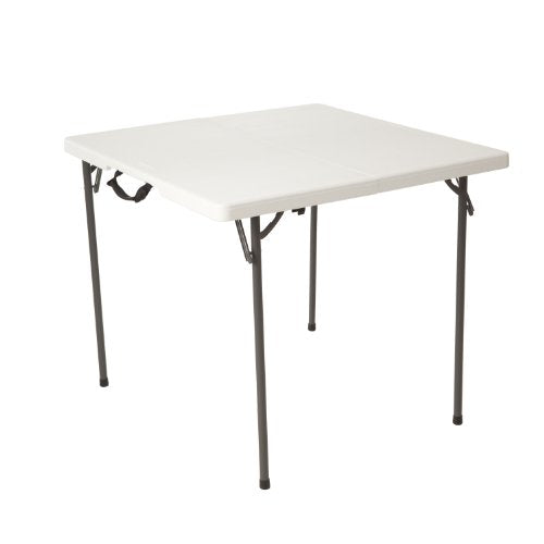 Lifetime 80273 Fold in Half Square Table, 34 Inch, White img 1