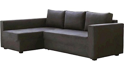 HomeTown Market The Dark Gray Manstad Cover Replacement is Custom Made for IKEA Manstad Sofa Bed, Or Sectional, Or Corner Slipcover. Sofa Cover Only!. (Longer Right Arm) img 1
