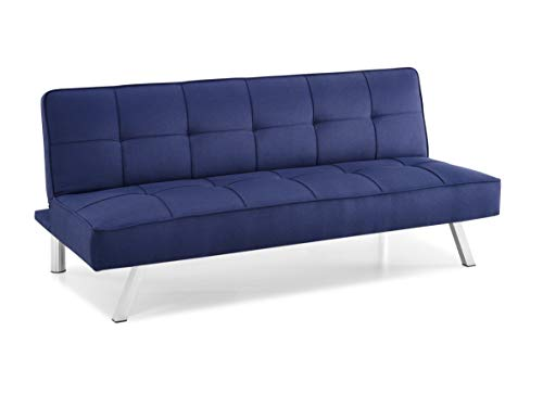 Serta RNE-3S-NB-SET Rane Collection Convertible Sofa, L66.1 x W33.1 x H29.5, Navy Blue img 2