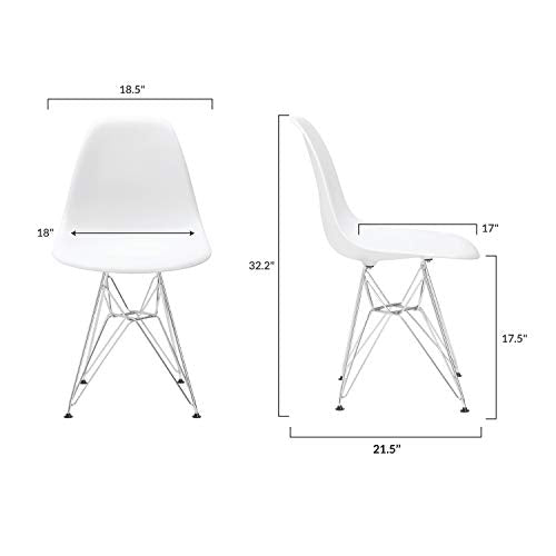 Poly and Bark Padget Side Chair in White img 5
