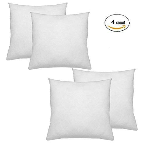 IZO All Supply Premium Hypoallergenic Polyester Decorative Pillows High Loft Throw Pillows Set of 4 18x18 Pillow Inserts - Great Couch Pillows, Bed Pi